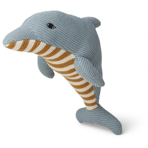 Peluche tricotée Diver - Dauphin (sea blue)