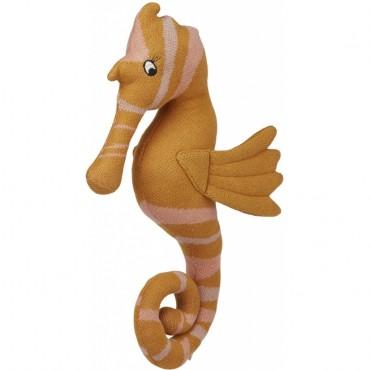 Peluche tricotée Tilly - Hippocampe  (moutarde)