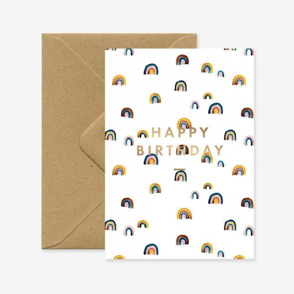 Carte double - Rainbows Happy Birthday
