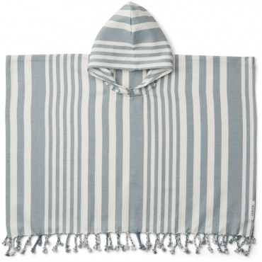 Poncho de plage Roomie - Rayure Sea Blue