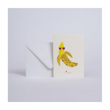 """Carte double - La Banane """"Banana"""""""