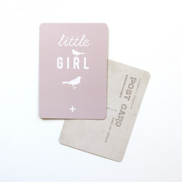 Carte Little Girl - Rose poudre