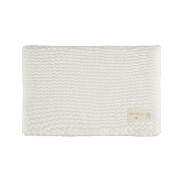 Couverture en tricot So Natural  - Milk