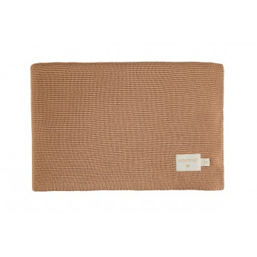 Couverture en tricot So Natural - Biscuit