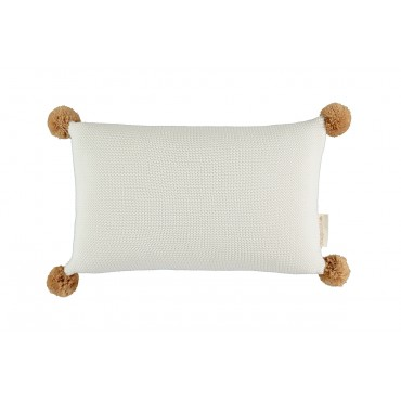Coussin en tricot So Natural - Milk