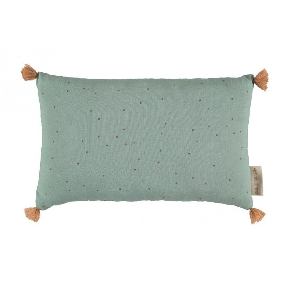 Petit coussin Sublim - Toffee sweet dots / Eden green