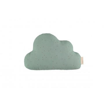 Coussin Cloud - Toffee sweet dots / Eden green
