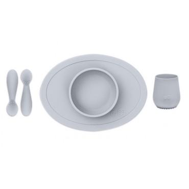 Coffret repas en silicone 1er âge - Gris