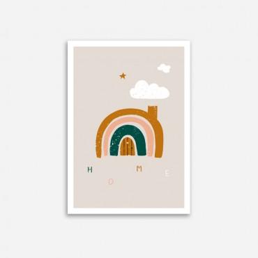 Affiche - La maison arc-en-ciel (A4)