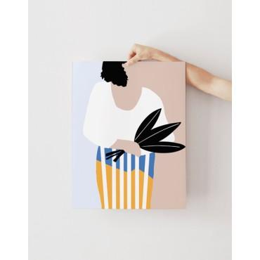 Affiche - Femme au bouquet (30x40)