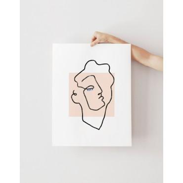 Affiche - Apollon beige (30x40)