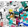 Poster géant à colorier - 3D Vidéo Games