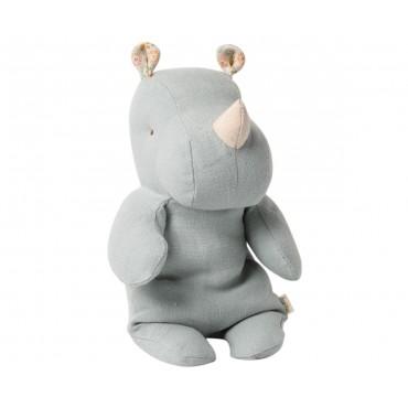 Doudou Hippo - Bleu gris (Small)