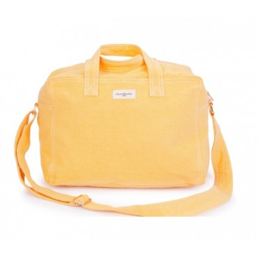 City bag SAUVAL en coton recyclé - Yellow golden latte