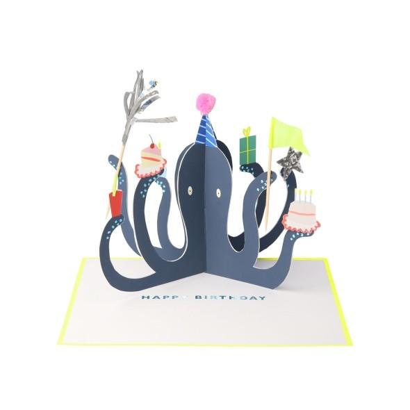Carte anniversaire - Poulpe