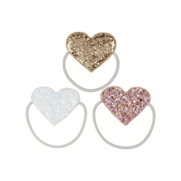 3 élastiques - Cœurs scintillants