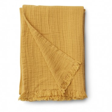 Couverture Magda en gaze de coton - Yellow Mellow