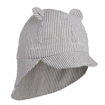 Chapeau de soleil Gorm - Rayé bleu