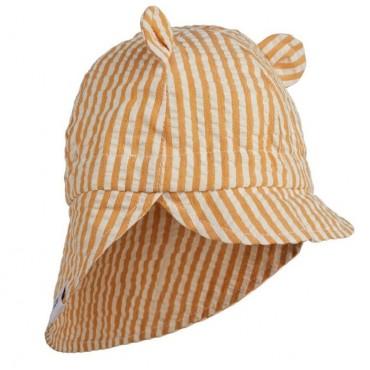 Chapeau de soleil Gorm - Rayé moutarde