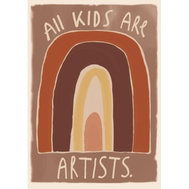 Poster by StudioLoco - All kids are artists (50x70 cm)