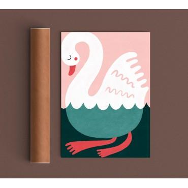 Affiche - Swimming Swan
