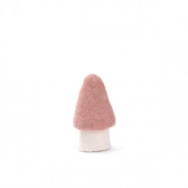 Champignon morille en feutre - Rose quartz (S)
