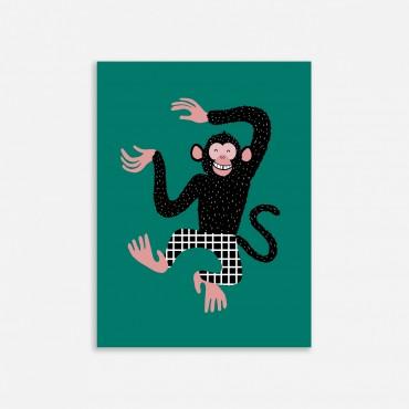 Affiche - Barnabé le chimpanzé (30x40)
