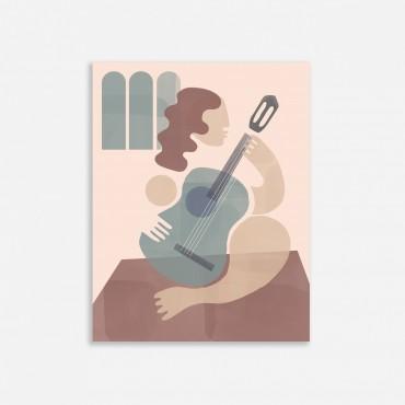 Affiche - La Guitariste (30x40)