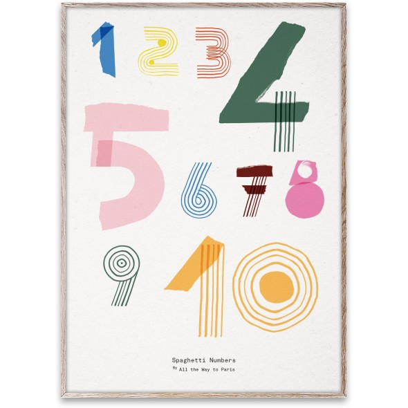 Poster Spaghetti Numbers (50x70 cm)