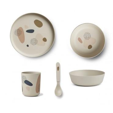 Set de vaisselle en bambou - Blubby sandy