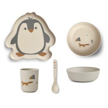 Set de vaisselle en bambou - Arctic
