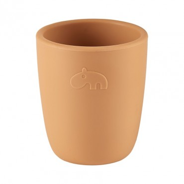 Mini mug en silicone - Deer friends, moutarde