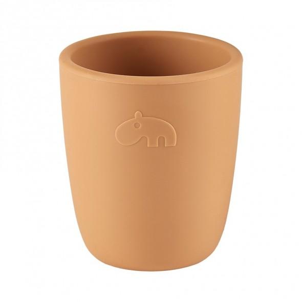 Mini mug en silicone - Deer friends, moutarde