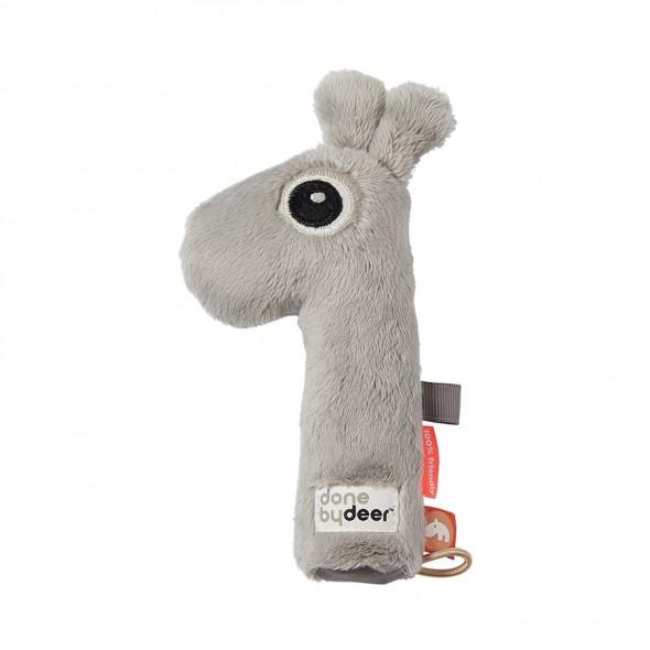 Hochet couineur Raffi - Grey