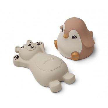 Set de 2 jouets de bain Knud - Rose