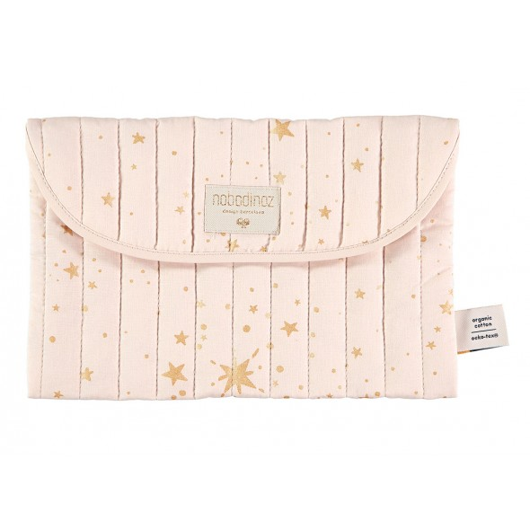 Pochette de rangement Bagatelle - White bubble / Misty pink