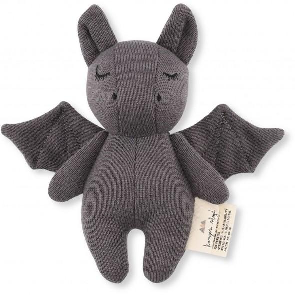 Doudou hochet Bat - Gris foncé