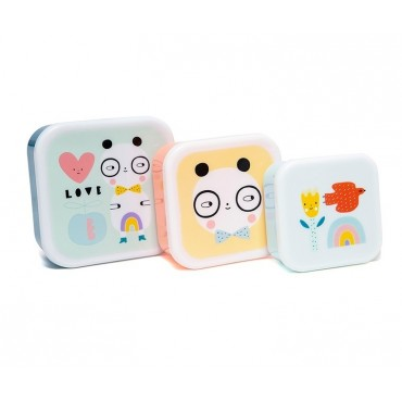 Set de 3 lunch box - Panda love