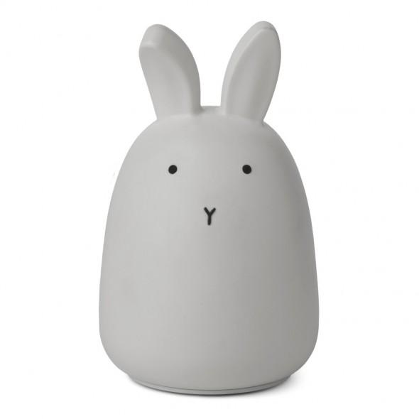 Veilleuse en silicone Winston - Rabbit (dumbo grey)