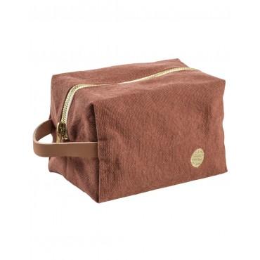 Trousse de toilette cube - Rhubarbe (PM)