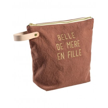Trousse de toilette Belle - Rhubarbe (GM)