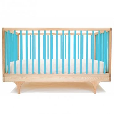Lit bébé évolutif Caravan - Bleu turquoise