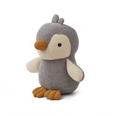 Peluche tricotée Pearl - Pengouin (grey)