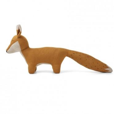 Peluche tricotée Felix - Fox (moutarde)