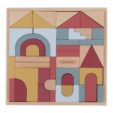 Blocs de construction en bois (47 pièces)