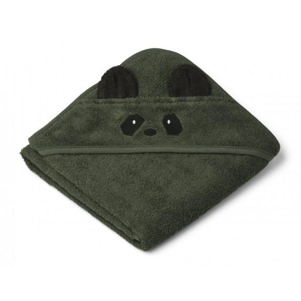 Sortie de bain Albert - Panda (hunter green)