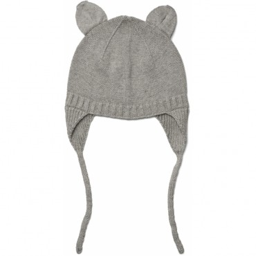 Bonnet en tricot Violet - Grey