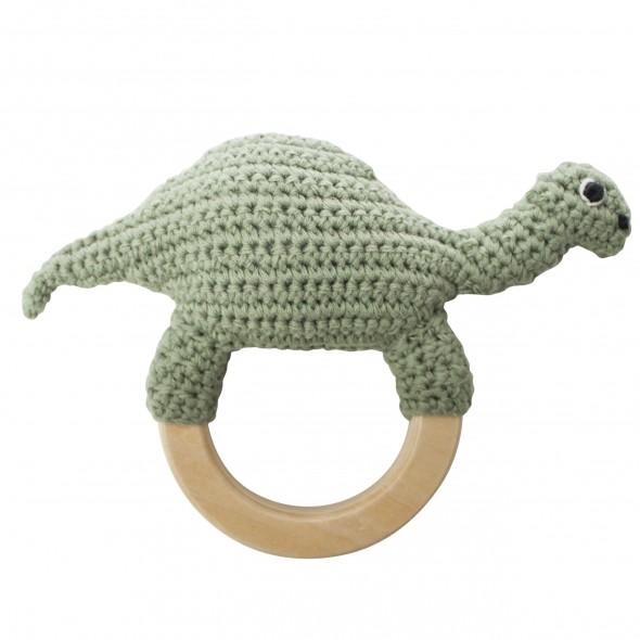 Anneau hochet en crochet - Dino