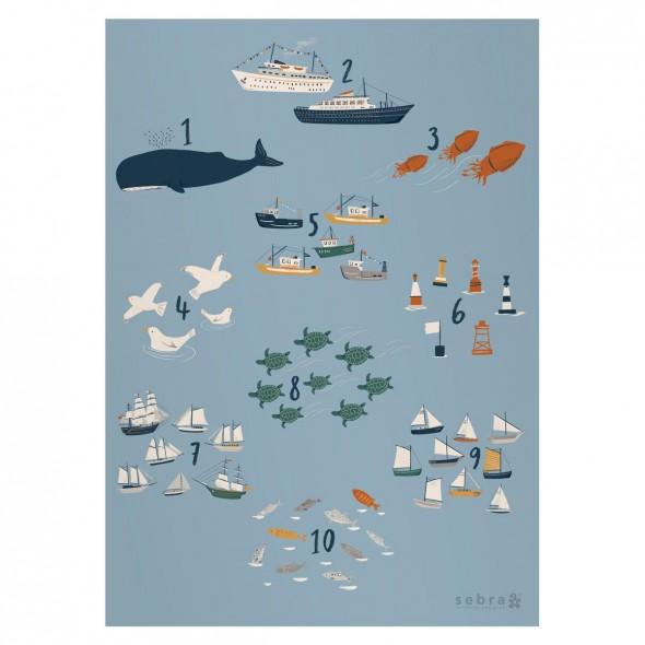 Poster - Nombre, seven seas