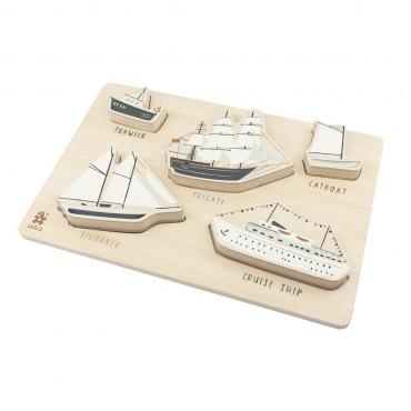 Puzzle en bois  - Seven seas